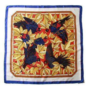 Hermes Multi-Color Les Perroquets Silk Scarf
